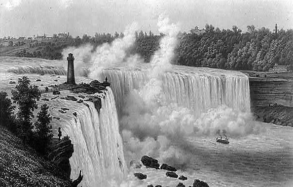 Niagara Falls Horseshoe Falls 1849 (Library of Congress)