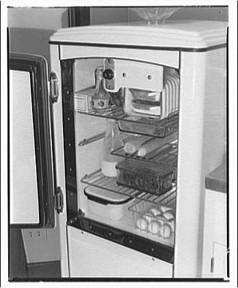 stocked refrigerator (Library of Congress)