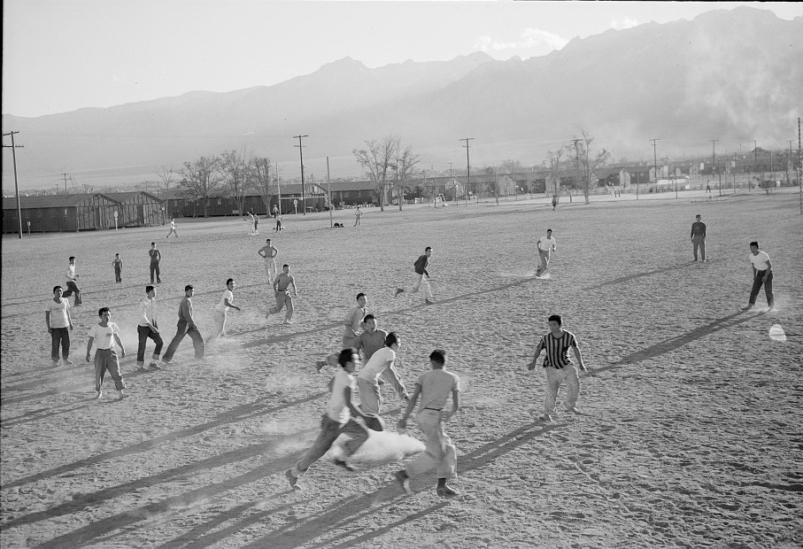 Football Practice 1943 by Ansel Adams (Library of Congress)