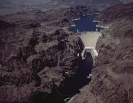 Boulder Dam (Hoover Dam) was dedicated on September 30, 1935 by President Roosevelt
